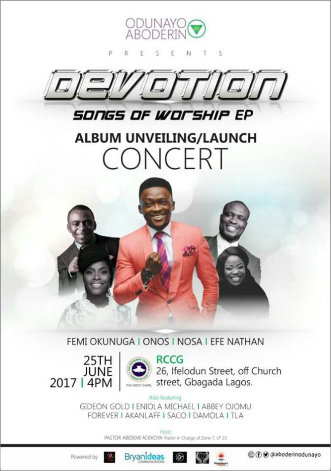"Event: Odunayo Aboderin Presents DEVOTION Songs of Worship EP ""Album Unveiling Concert"""
