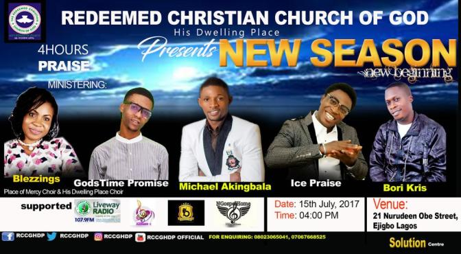 Rccg His Dwelling Place Present 4Hours Praise, Theme New Season, New Beginning